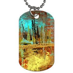 Autumn Landscape Impressionistic Design Dog Tag (two Sides)