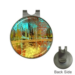 Autumn Landscape Impressionistic Design Hat Clips With Golf Markers
