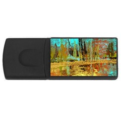 Autumn Landscape Impressionistic Design USB Flash Drive Rectangular (4 GB)