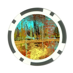 Autumn Landscape Impressionistic Design Poker Chip Card Guards (10 Pack)