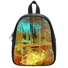 Autumn Landscape Impressionistic Design School Bags (Small)