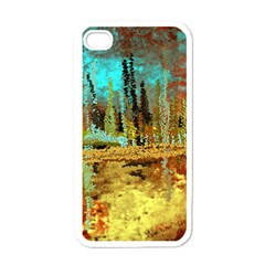 Autumn Landscape Impressionistic Design Apple iPhone 4 Case (White)