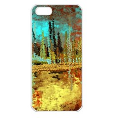 Autumn Landscape Impressionistic Design Apple Iphone 5 Seamless Case (white)