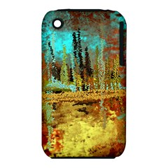 Autumn Landscape Impressionistic Design Apple iPhone 3G/3GS Hardshell Case (PC+Silicone)