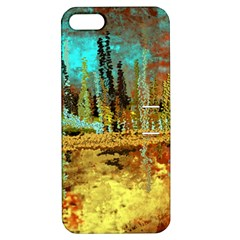 Autumn Landscape Impressionistic Design Apple iPhone 5 Hardshell Case with Stand