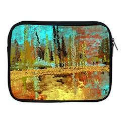 Autumn Landscape Impressionistic Design Apple Ipad 2/3/4 Zipper Cases