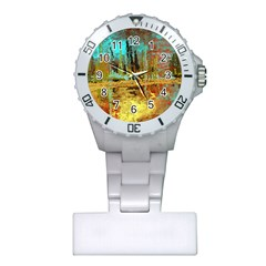 Autumn Landscape Impressionistic Design Plastic Nurses Watch