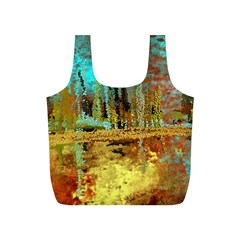 Autumn Landscape Impressionistic Design Full Print Recycle Bags (S)