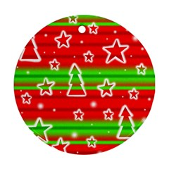 Christmas pattern Ornament (Round)
