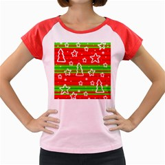 Christmas pattern Women s Cap Sleeve T-Shirt