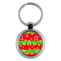 Christmas pattern Key Chains (Round)