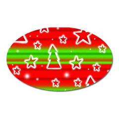 Christmas pattern Oval Magnet