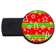 Christmas pattern USB Flash Drive Round (1 GB)
