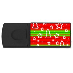 Christmas pattern USB Flash Drive Rectangular (1 GB)