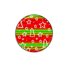 Christmas pattern Hat Clip Ball Marker (4 pack)