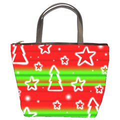 Christmas pattern Bucket Bags