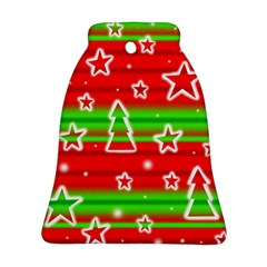 Christmas pattern Bell Ornament (2 Sides)