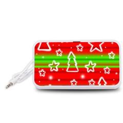 Christmas pattern Portable Speaker (White)