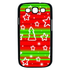 Christmas pattern Samsung Galaxy S III Case (Black)