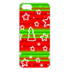 Christmas pattern Apple iPhone 5 Seamless Case (White)