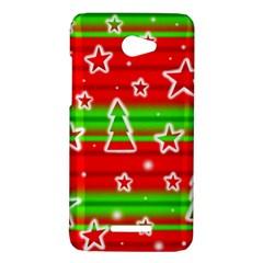 Christmas pattern HTC Butterfly X920E Hardshell Case