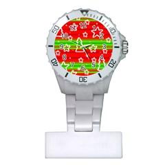 Christmas pattern Plastic Nurses Watch