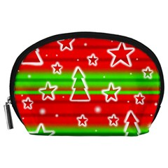 Christmas pattern Accessory Pouches (Large)