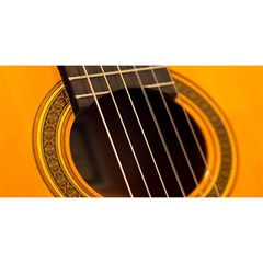 Vintage Guitar Acustic You Are Invited 3d Greeting Card (8x4)