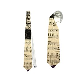 Vintage Music Sheet Crown Song Neckties (two Side)