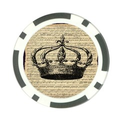 Vintage Music Sheet Crown Song Poker Chip Card Guards (10 Pack)