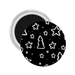 Black and white Xmas 2.25  Magnets