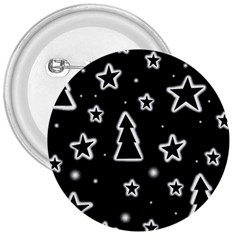 Black and white Xmas 3  Buttons
