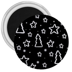 Black and white Xmas 3  Magnets