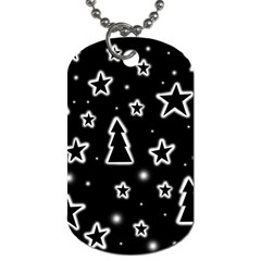 Black and white Xmas Dog Tag (One Side)