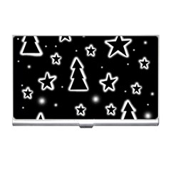 Black and white Xmas Business Card Holders