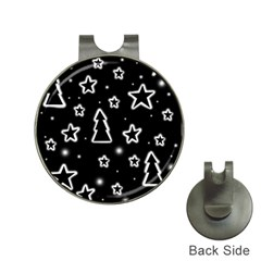 Black and white Xmas Hat Clips with Golf Markers