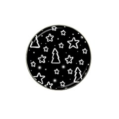 Black and white Xmas Hat Clip Ball Marker (10 pack)