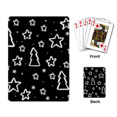 Black and white Xmas Playing Card