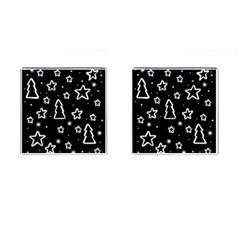 Black and white Xmas Cufflinks (Square)