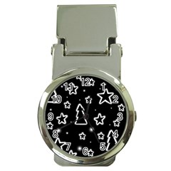 Black and white Xmas Money Clip Watches