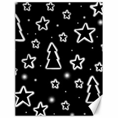 Black and white Xmas Canvas 12  x 16