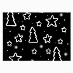 Black and white Xmas Large Glasses Cloth (2-Side)
