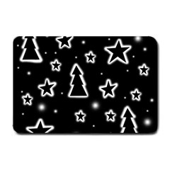 Black and white Xmas Small Doormat
