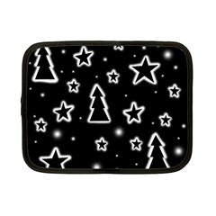 Black and white Xmas Netbook Case (Small)