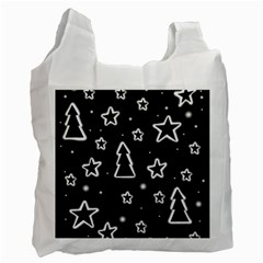 Black and white Xmas Recycle Bag (One Side)