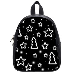 Black and white Xmas School Bags (Small)
