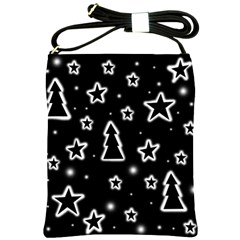 Black and white Xmas Shoulder Sling Bags