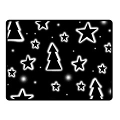 Black and white Xmas Fleece Blanket (Small)