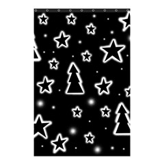 Black and white Xmas Shower Curtain 48  x 72  (Small)