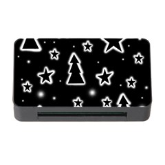 Black and white Xmas Memory Card Reader with CF